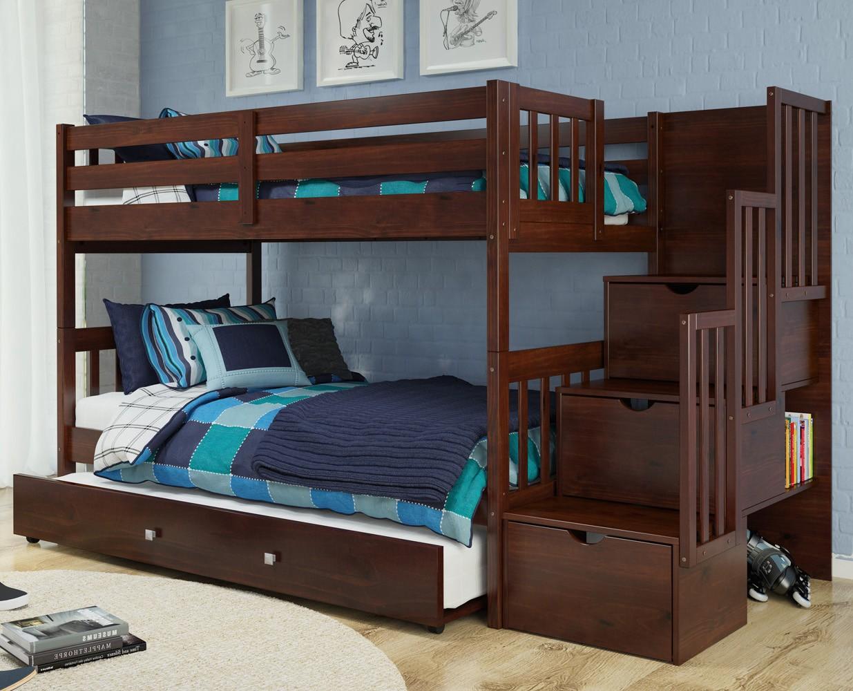 1019-TTCP Stairway Bunk Bed