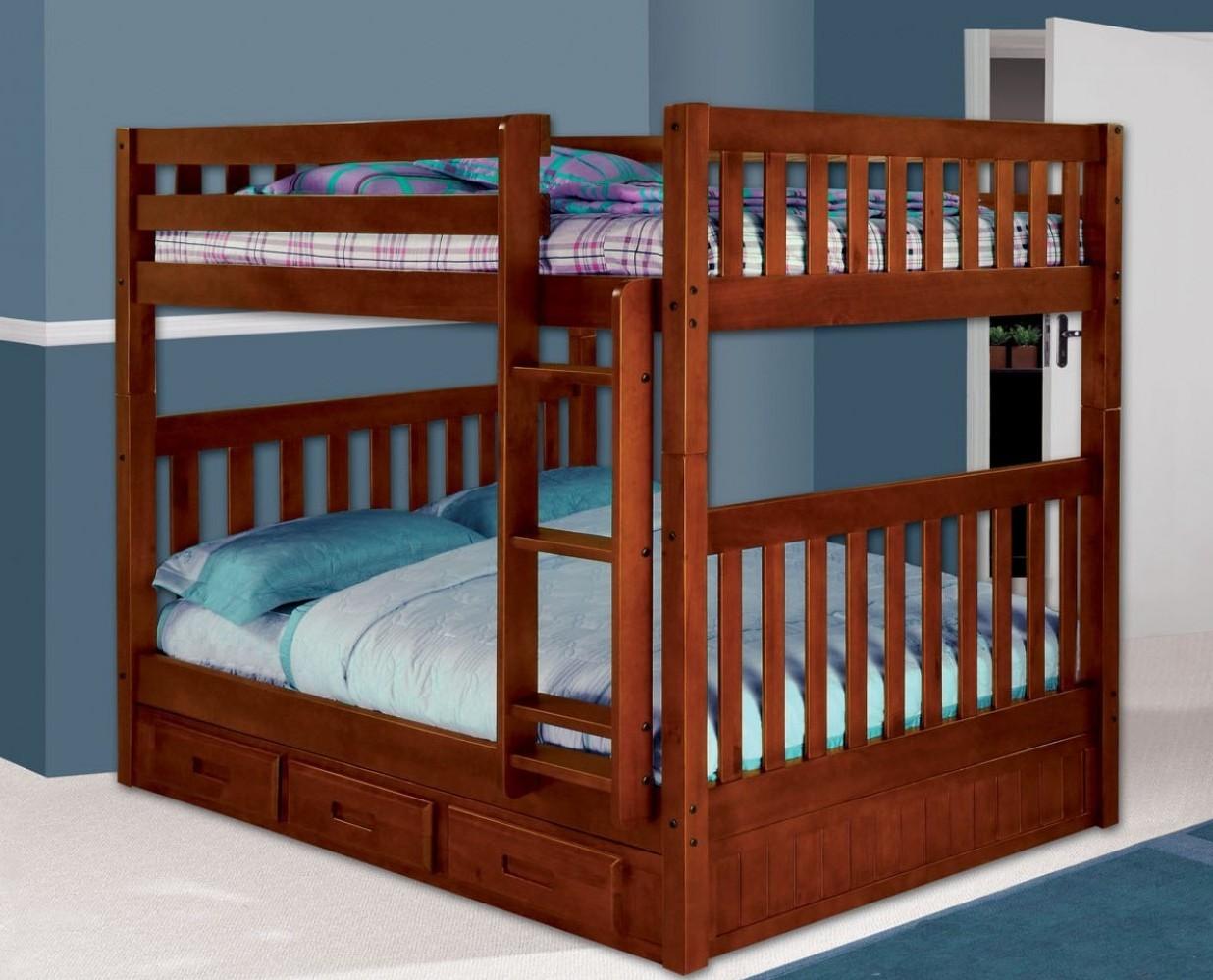 2815 Merlot Full Full Bunk Bed