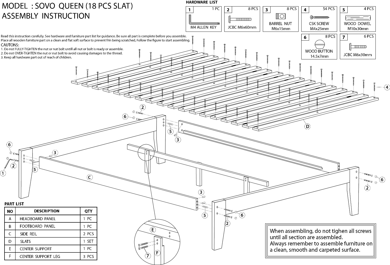 Assembly Instructions Donco Trading Co